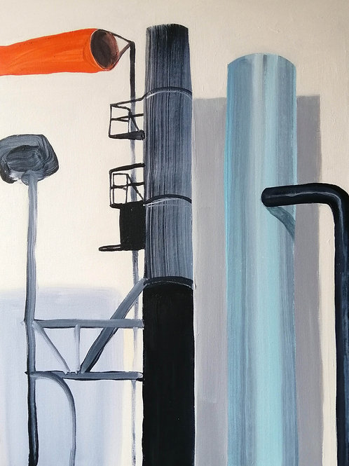 'Pipe Dreams' acrylic on canvas 610 x 550mm