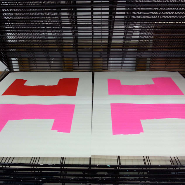 Hartlepool prints in progress