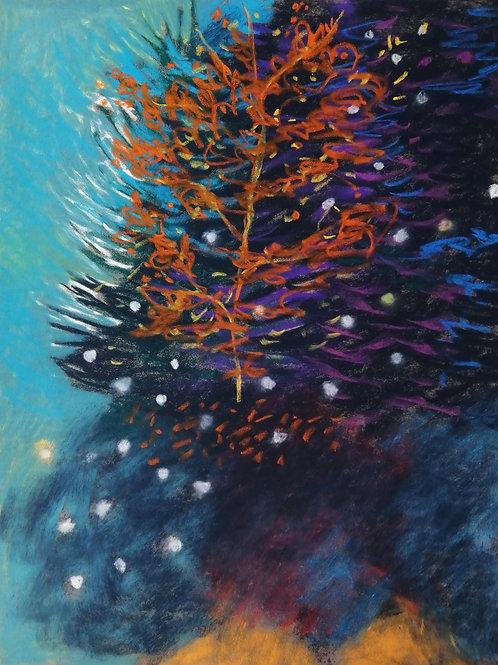 'Return Journey'pastel on paper 240 x 300mm
