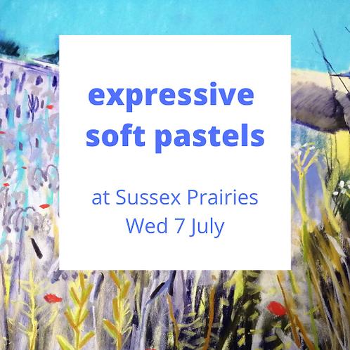 Expressive Pastels at Sussex Prairies - Wed 7 July 2021
