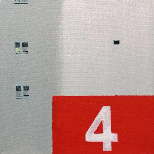 'Apartment Block 4' acrylic on canvas 20x20cm