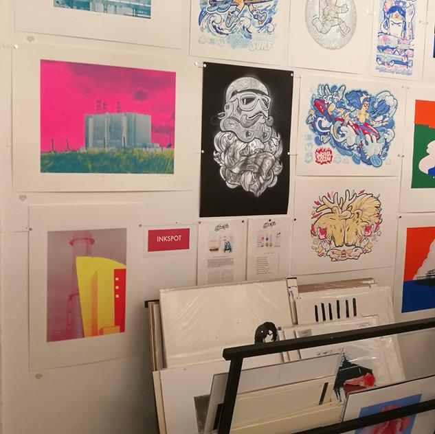 Inkspot press at Brighton Print Fair