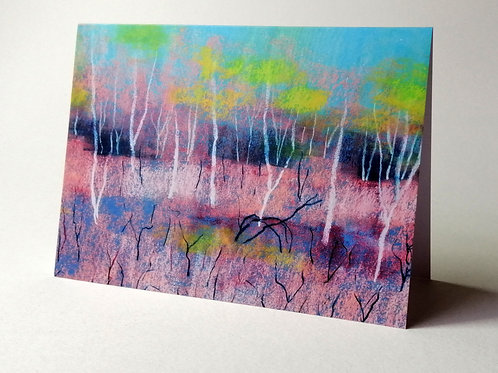 'Birches Romany Ridge' greeting card