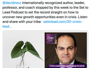 Nour on Crisis Leadership and Forging Forward - Set To Lead Podcast