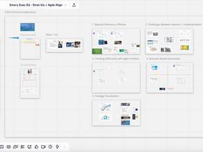 Digital Whiteboard Immersive Experience - Emory Executive Education on Strategy Visualization