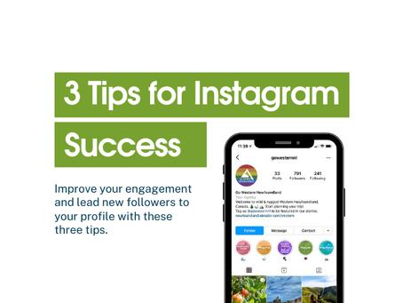 3 Tips for Instagram Success