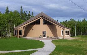 The exterior of the Torrent River Interpretation Centre.