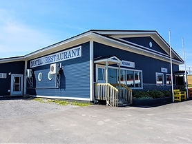 Exterior of the Sea Echo Motel and restaurant in Port au Choix, Newfoundland.