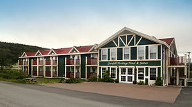 Exterior view of the Grenfell Heritage Hotel and Suites in St. Anthony, Newfoundland.