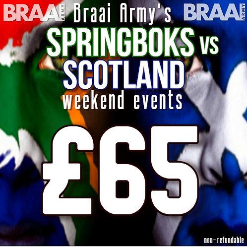 Scotland v Springboks Weekend Events