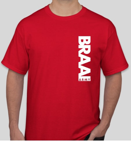 Braai Army Mens T-Shirt RED