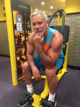 Lenny at gym