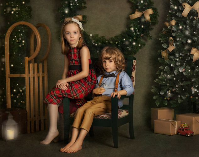 Christmas family mini session
