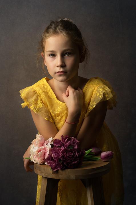 Portret djevojčice u studiju