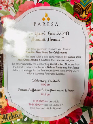 2019 New Year At Paresa Resort Thailand