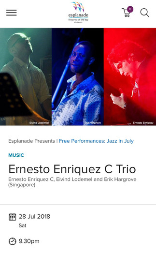 Jazz in July-Esplanade, Singapore 2018