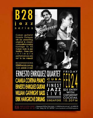 Ernesto Enriquez C Quartet at B28 Jazz &Whiskey Bar