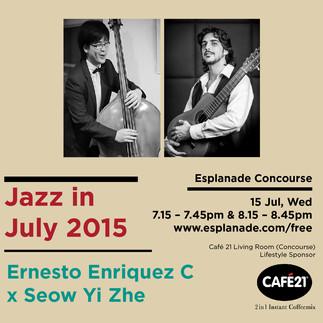 JAZZ JULY SERIES AT THE ESPLANADE, SINGAPORE, JULY 2015