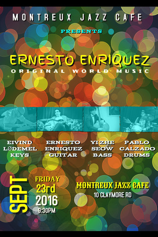 Montreux Jazz Cafe Singapore 23rd Sept 2016