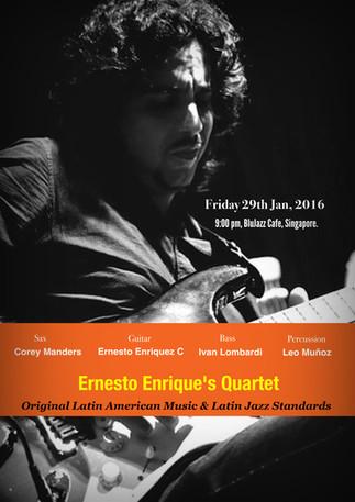 ERNESTO ENRIQUEZ C AT BLUJAZZ CAFE 29th JAN, 2016