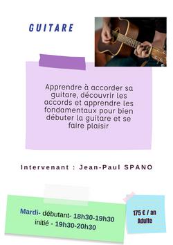 artistique guitare adulte