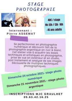 stage artistique photographie