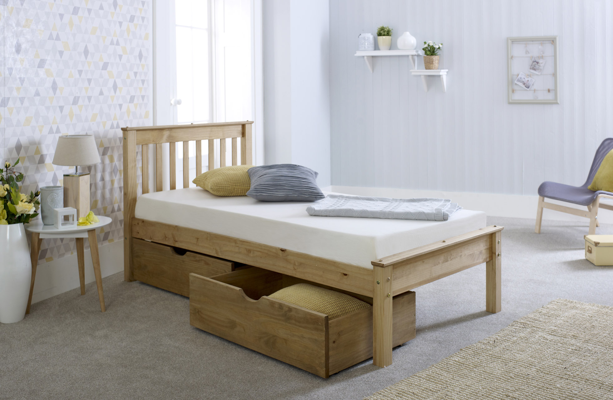 3FT Chester Bed with Drawers