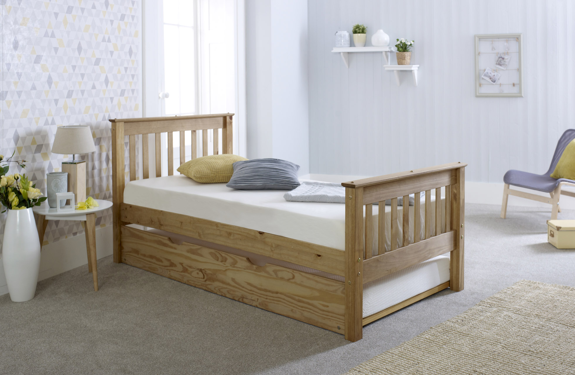 3FT Somerset Bed with Trundle