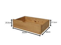 Waxed Underbed Drawers Measurements