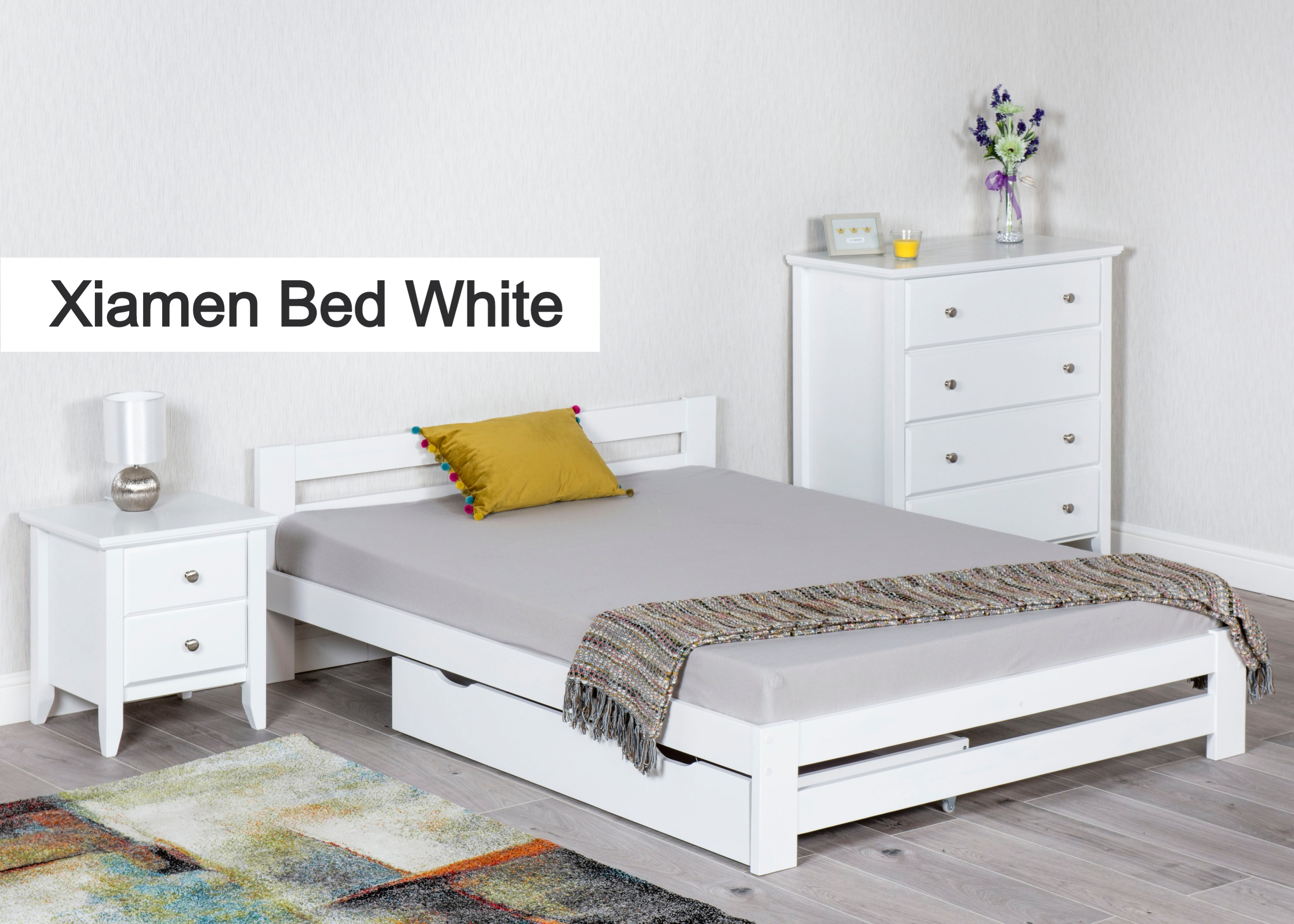 Xiamen Bed (White)