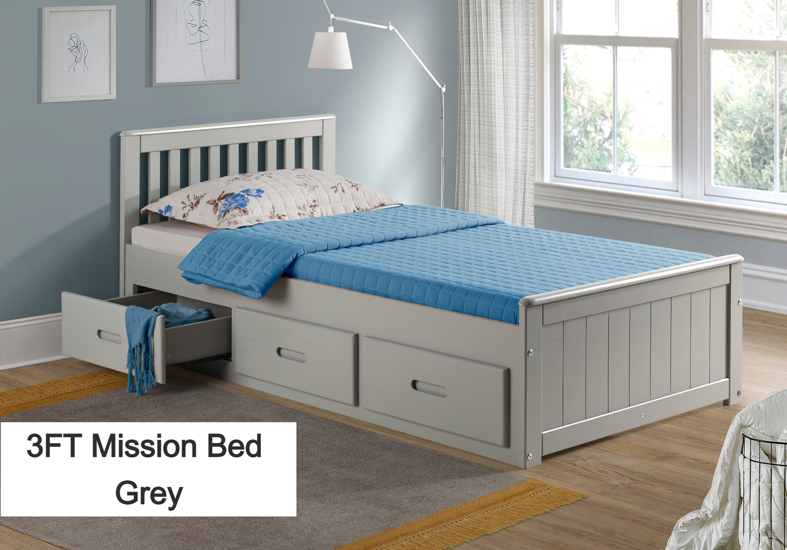 Mission Bed Grey