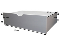 White Underbed Drawers Measurements