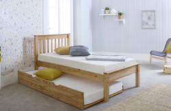 Waxed Trundle Bed Open