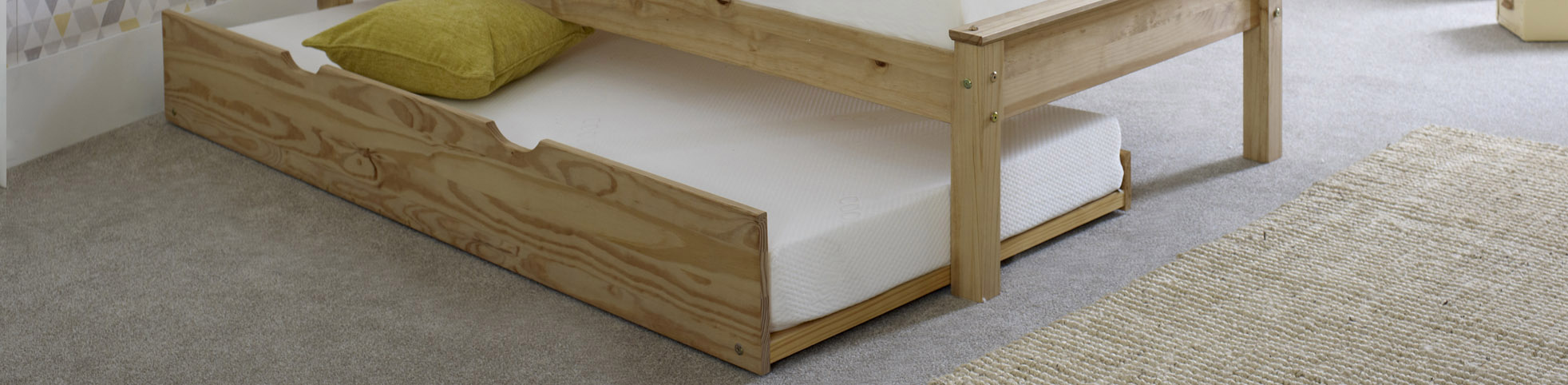 Waxed Trundle Bed
