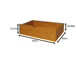 Honey Underbed Drawers Measurements