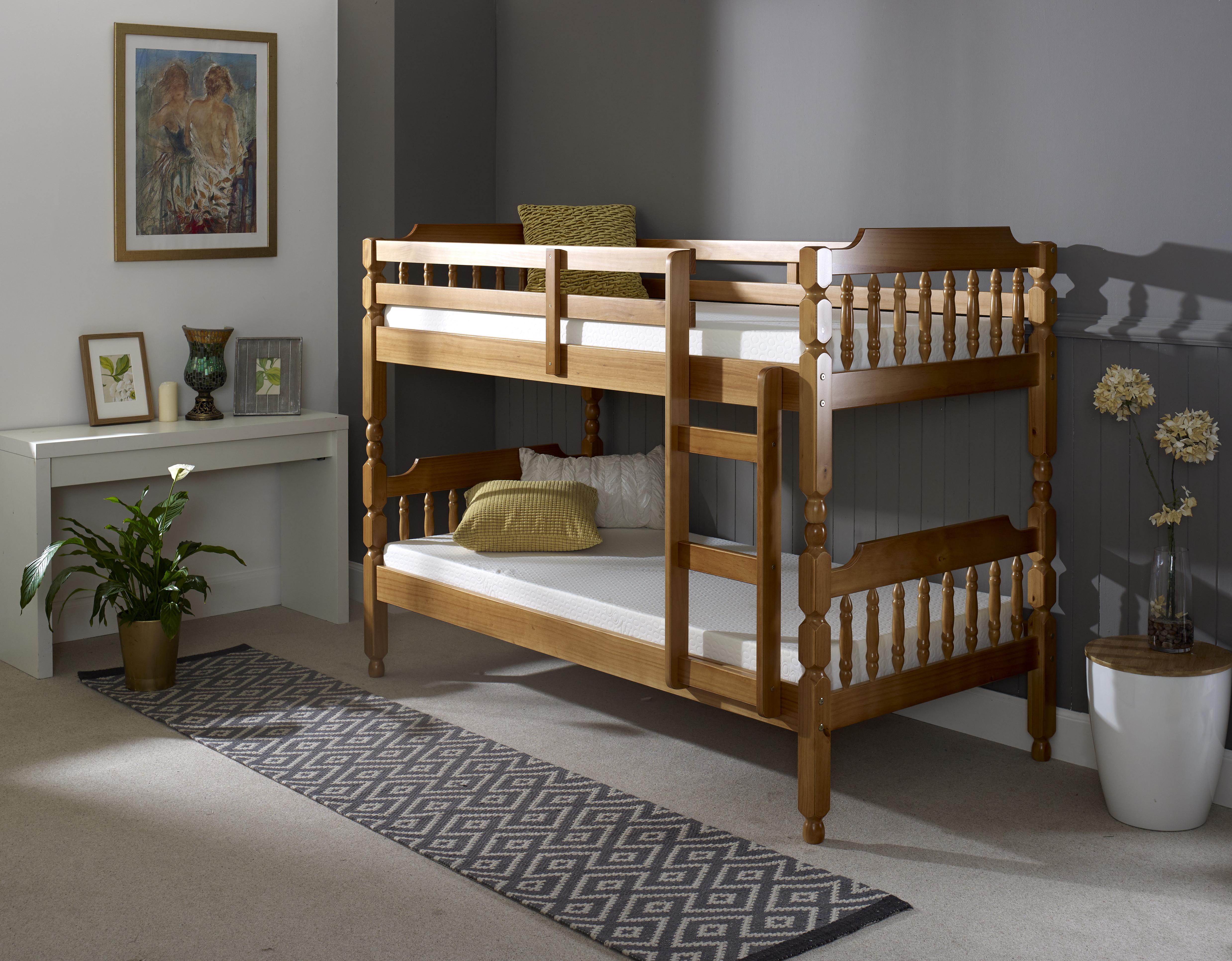 3'0 Colonial Bunk Bed Honey 1