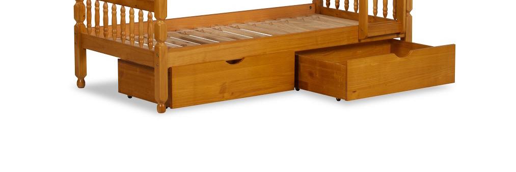 Underbed Drawers in Honey