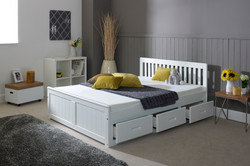 4'0 Mission Bed In White