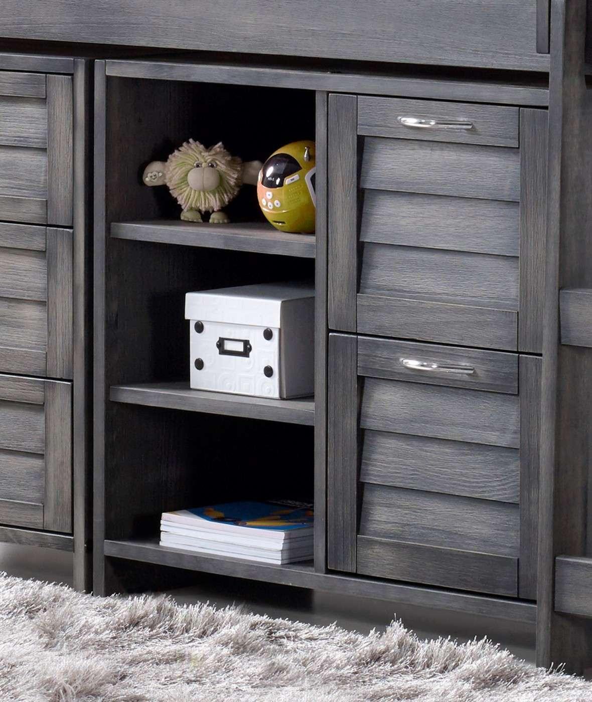 Cozy High Sleeper 2 Drawer / Shelves