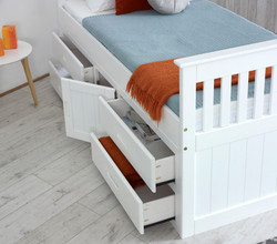 Captains Storage Bed in White