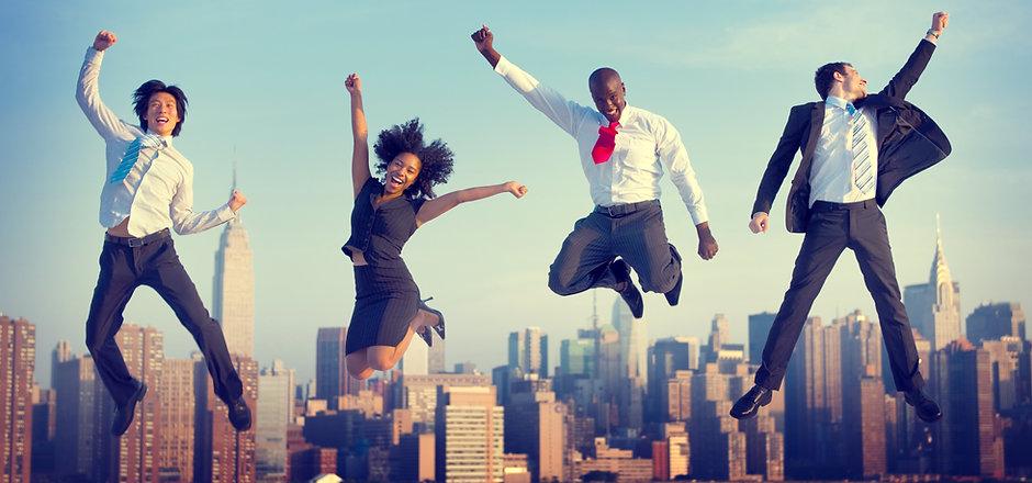 Business People Success Achievement City