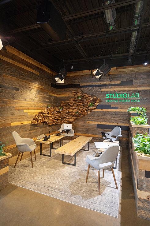 creative, lounge, lobby, studio lab, coworking, shared space, community
