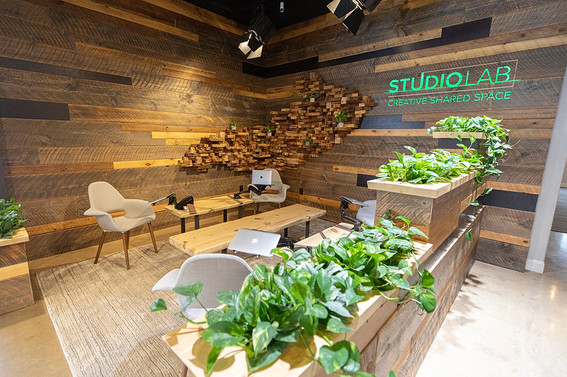 lobby, coworking, creative, studio lab, professional, lounge, shared space