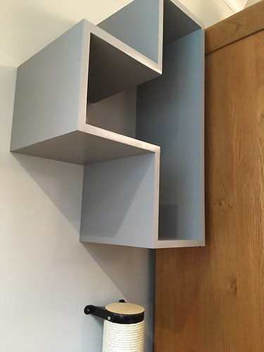 Cats climbing shelves with soft anti slip carpet.