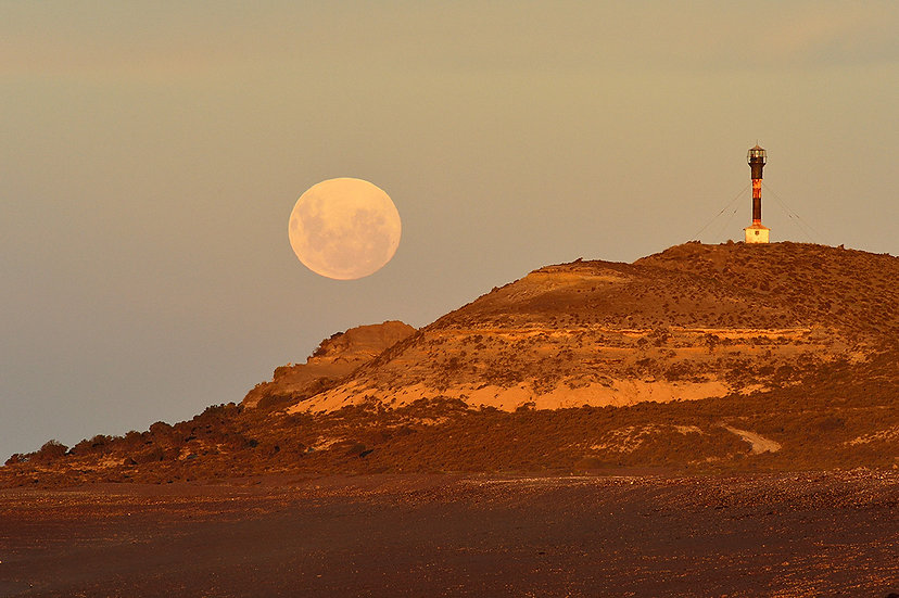 Lighthouse & Moon