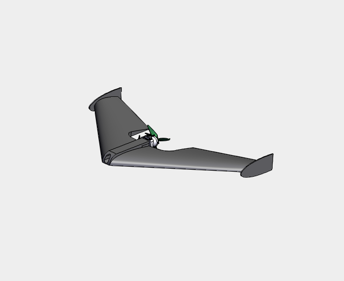 3D printable thrust vector system for flying wing