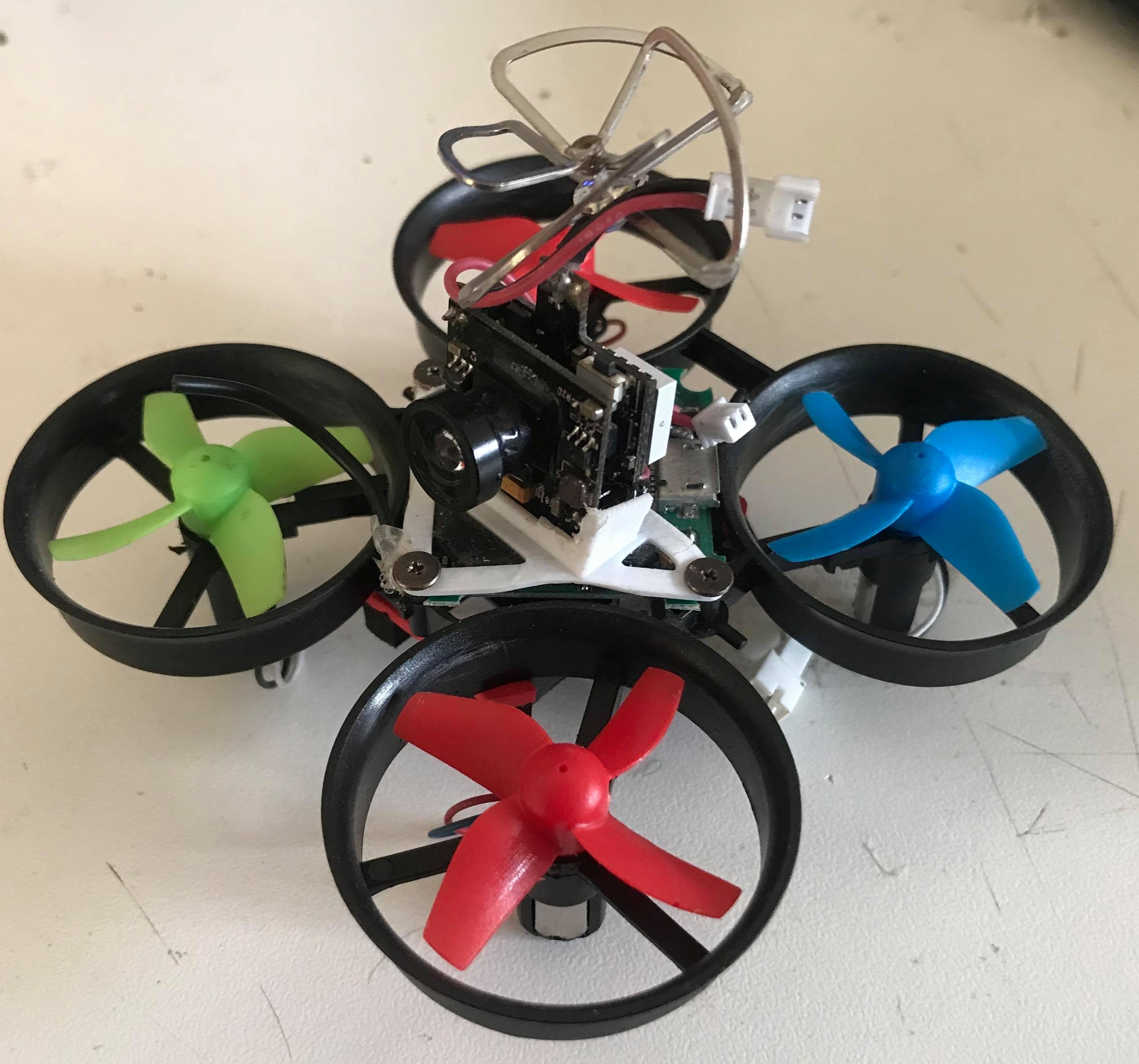 Custom tiny whoop micro racing drone