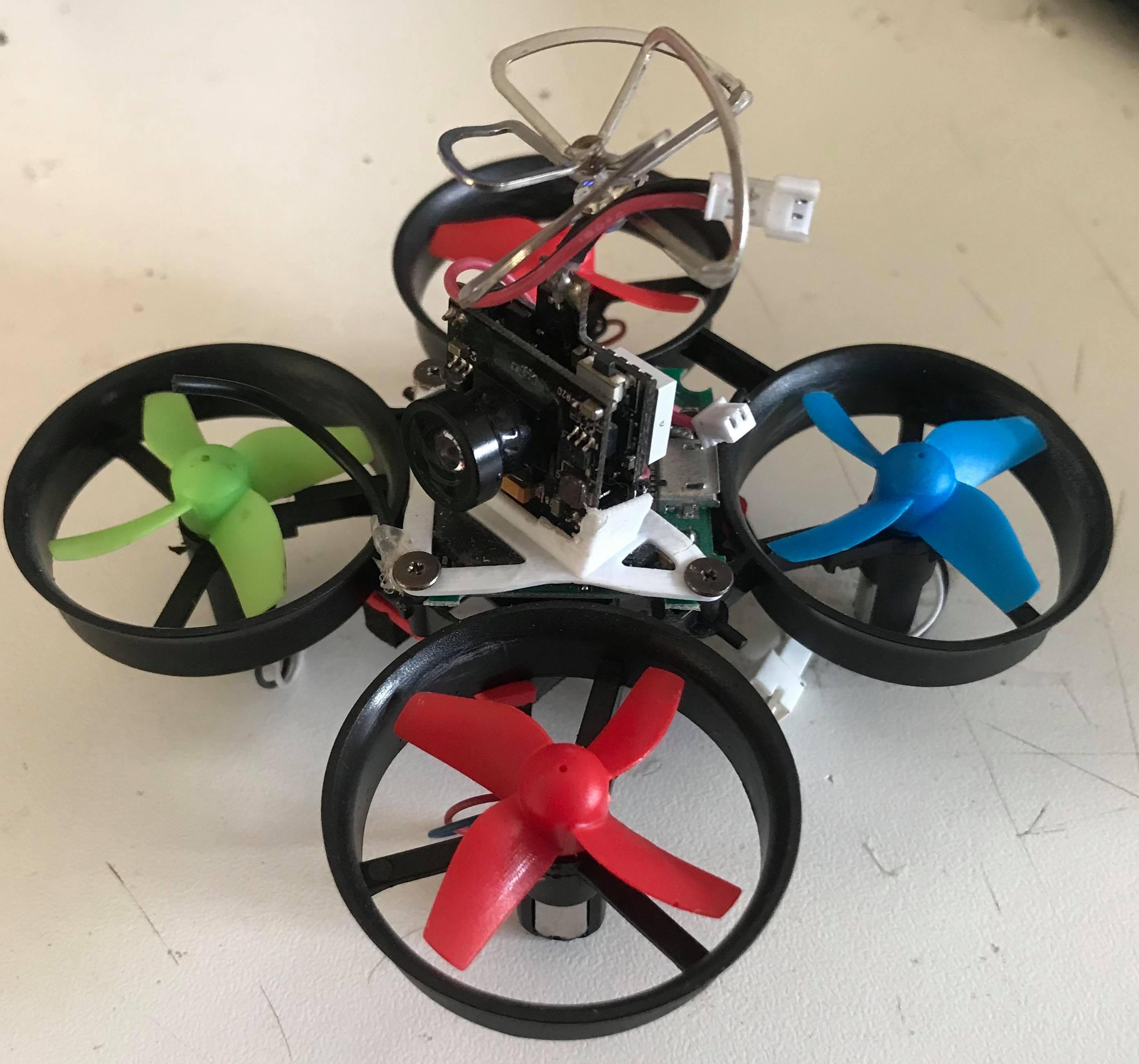 Custom tiny whoop micro racing drone