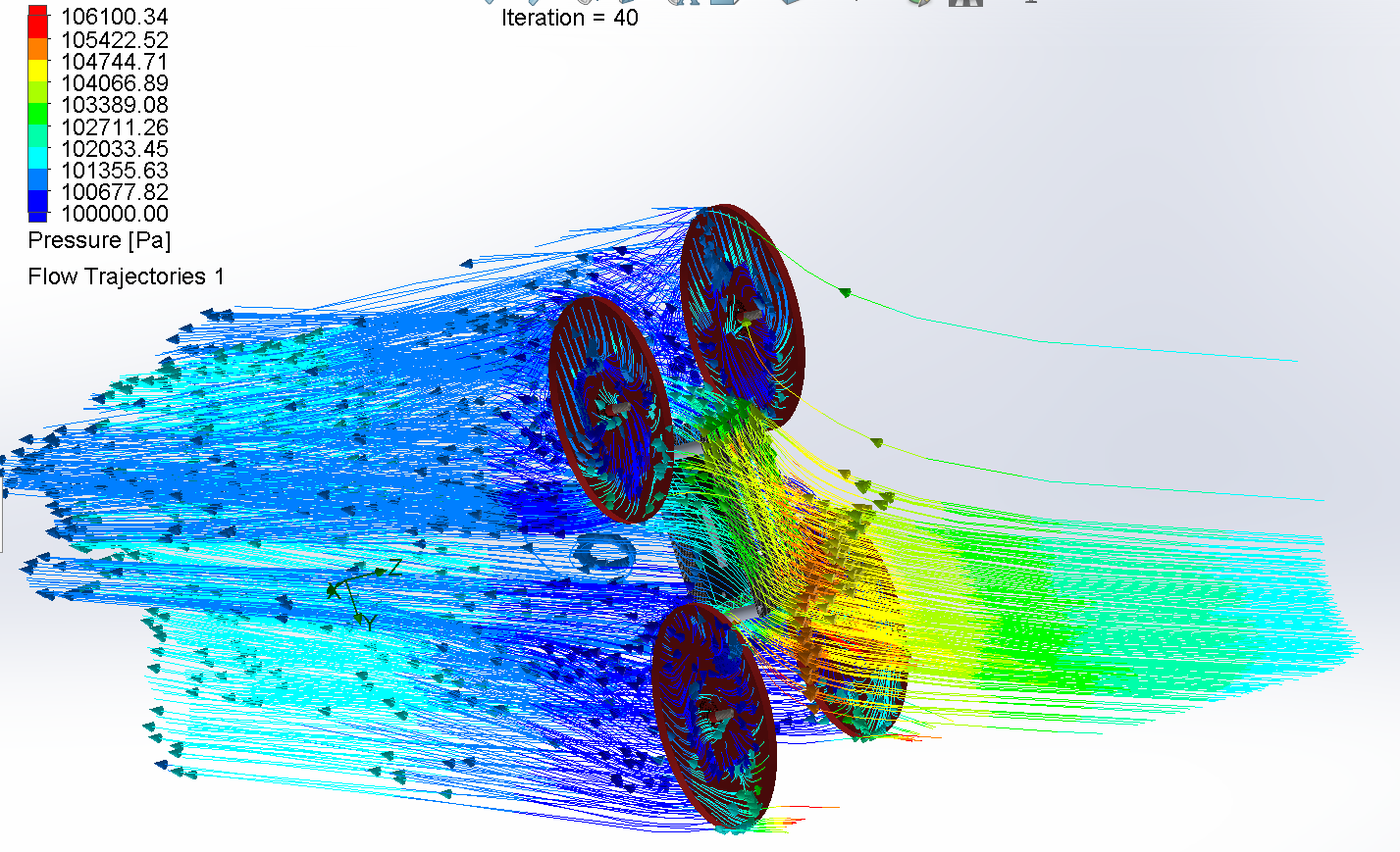 Simulation for Design of record-breaking racing drone
