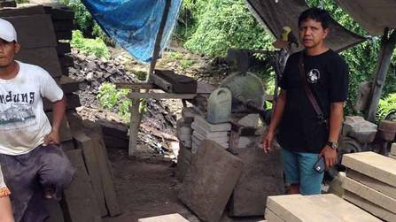 Dua Pemilik Tambang Batu Padas di Tukad Petanu Diamankan